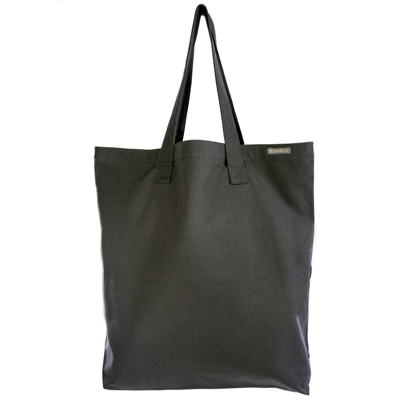 Shopper tote XL - canvas - antraciet - 50 x 50