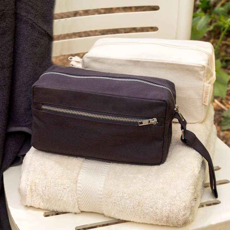 Toiletry bag rectangle M - anthracite