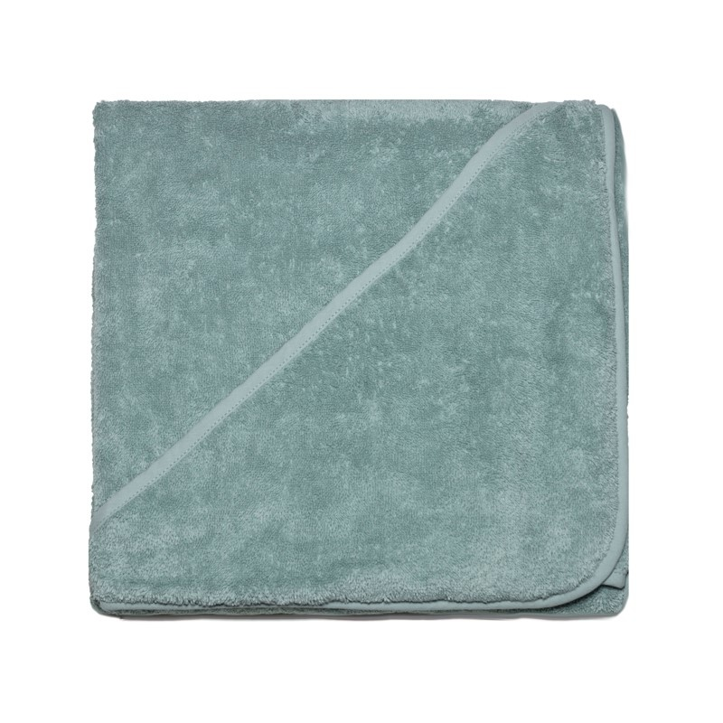 Baby towel with hood 100x100cm - mineral green