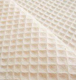 Waffle fabric - natural