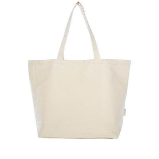 Lage shopper van canvas - natural white - 40x48cm