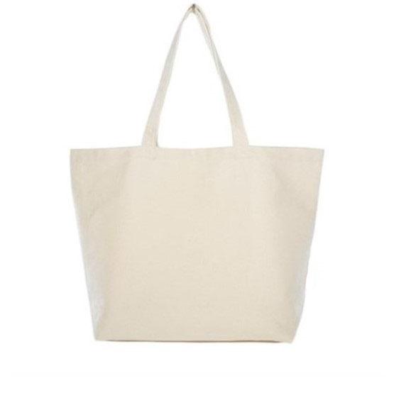 Lage shopper natural white - zonder label - canvas - 48x40cm