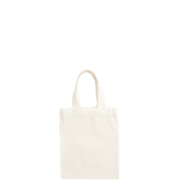 Mini tote bag natural white