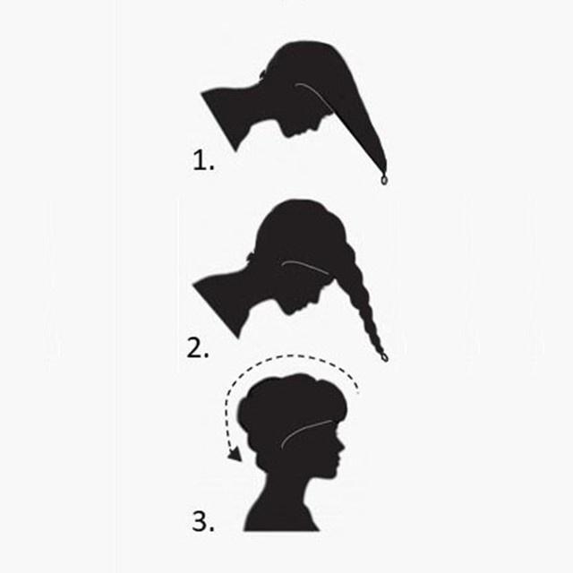 Haarhanddoek - antraciet