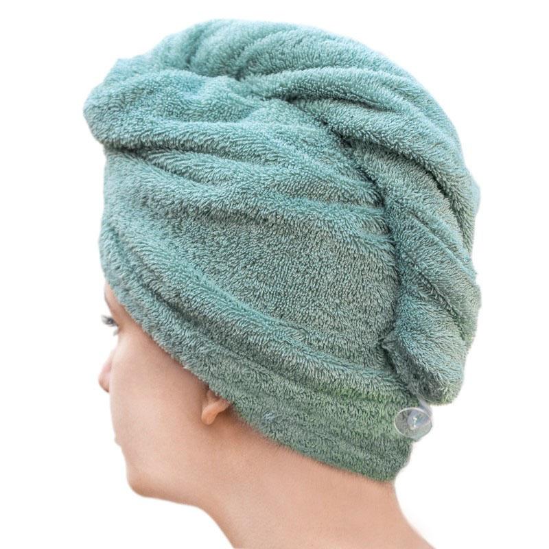 Haarhandtuch - mineralgrün