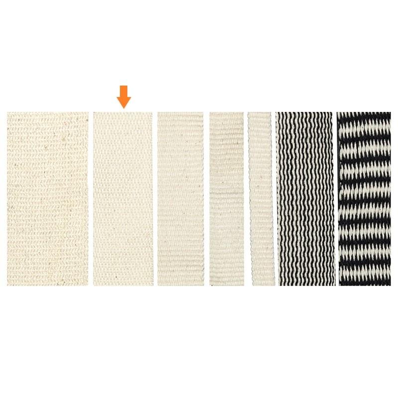 Geweven band 25 mm van 100% biologisch katoen