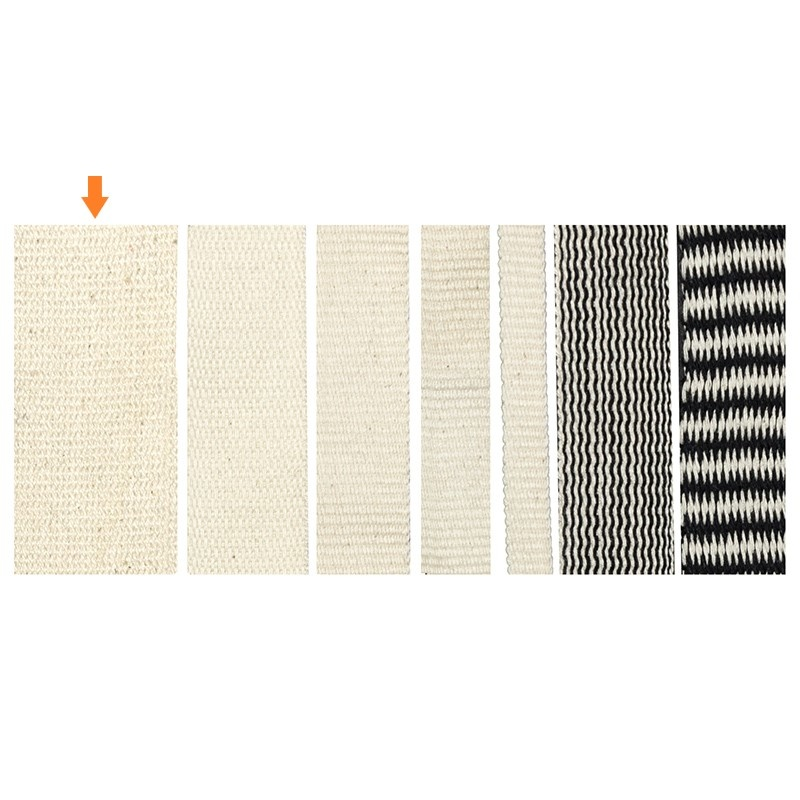 Woven tape 38 mm made of 100% organic cotton