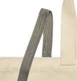 Gewebeband Schwarz Weiß 25 mm aus 100% Bio-Baumwolle