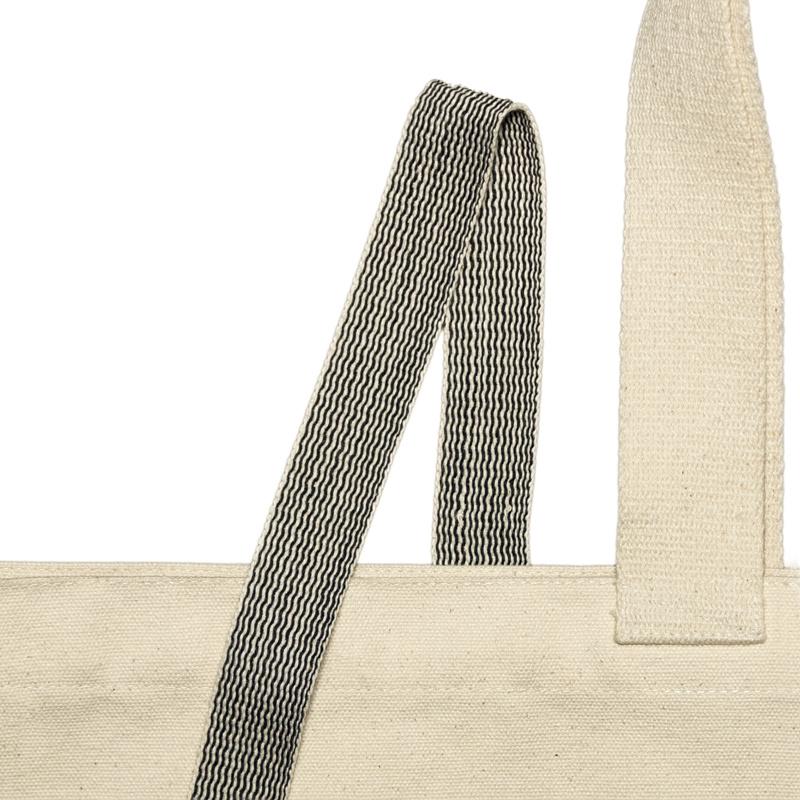 Geweven band zwart-wit 25 mm  van 100% biologisch katoen