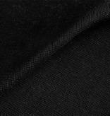 Boordstof 1x1 ribtricot met elastaan - zwart- Buisbreisel