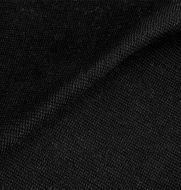 Boordstof met elastaan - zwart  - buisbreisel