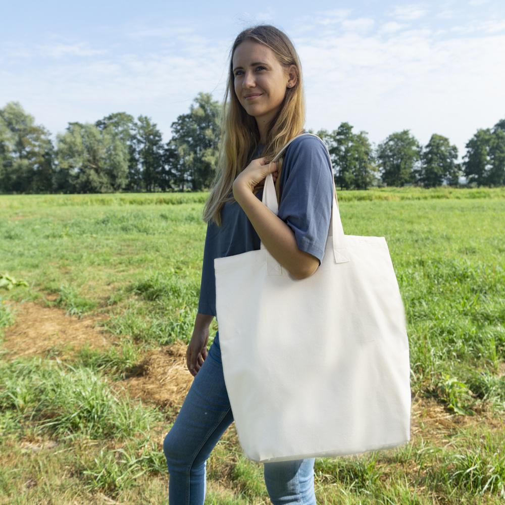 Canvas shopper tote XL - natural white