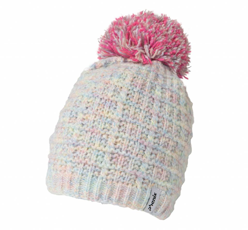 Junior Groovy Knit Hat with Pon-Pon