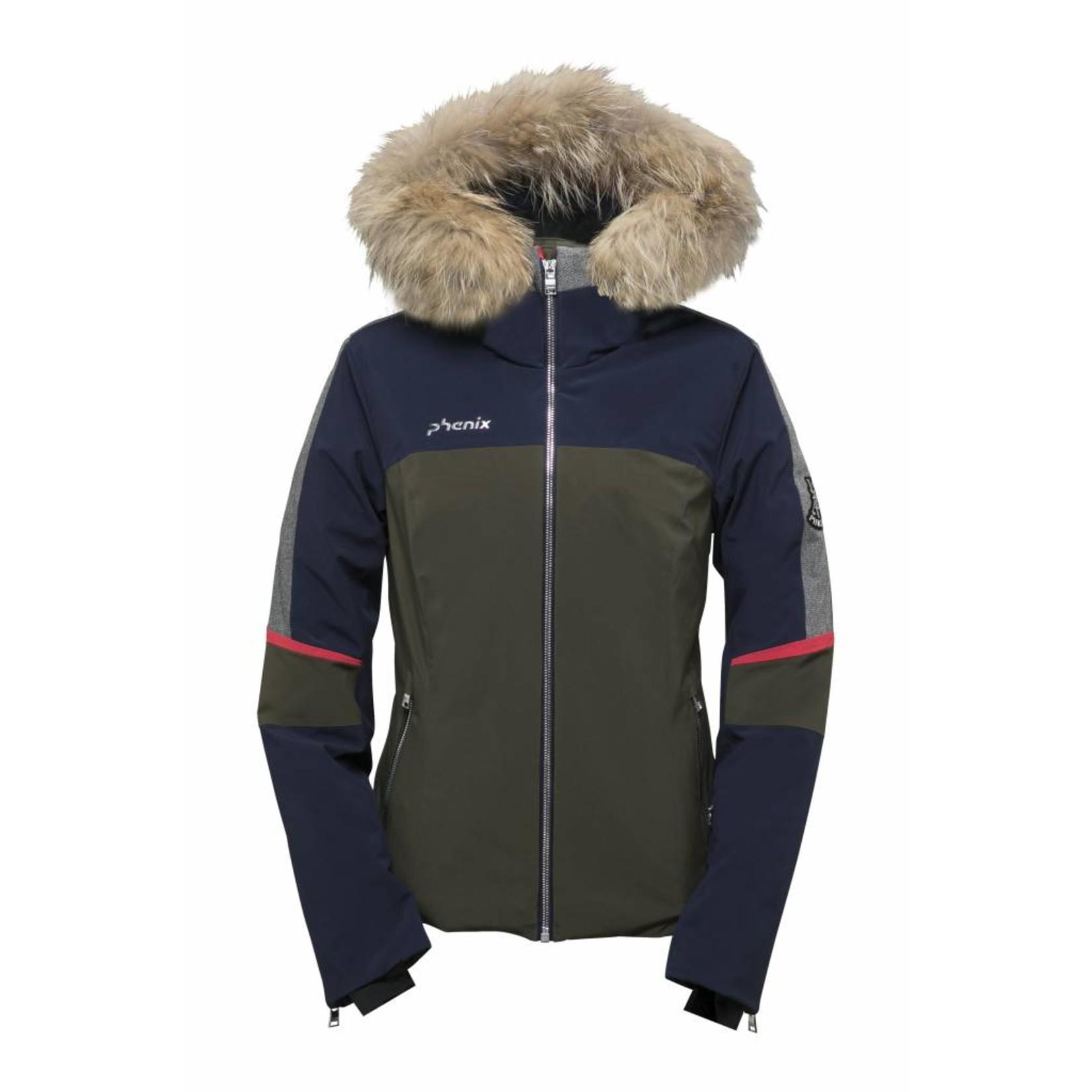 PHENIX Amanda Hybrid Down Jacket with Raccoon Fur