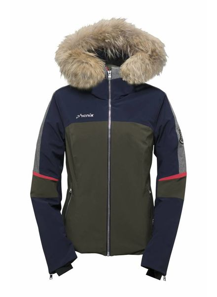 PHENIX Amanda Hybrid Down Jacket with Raccoon Fur