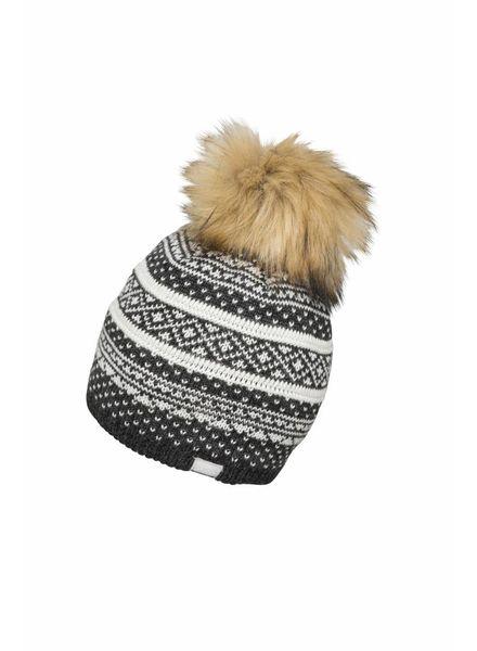 Suwa Knit Hat with Pon-Pon