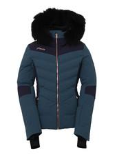 Diamond Down Jacket with Fur