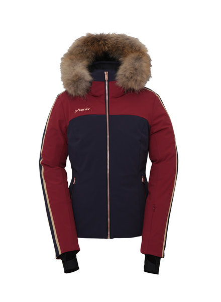 Sapphire Hybrid Down Jacket with Fur