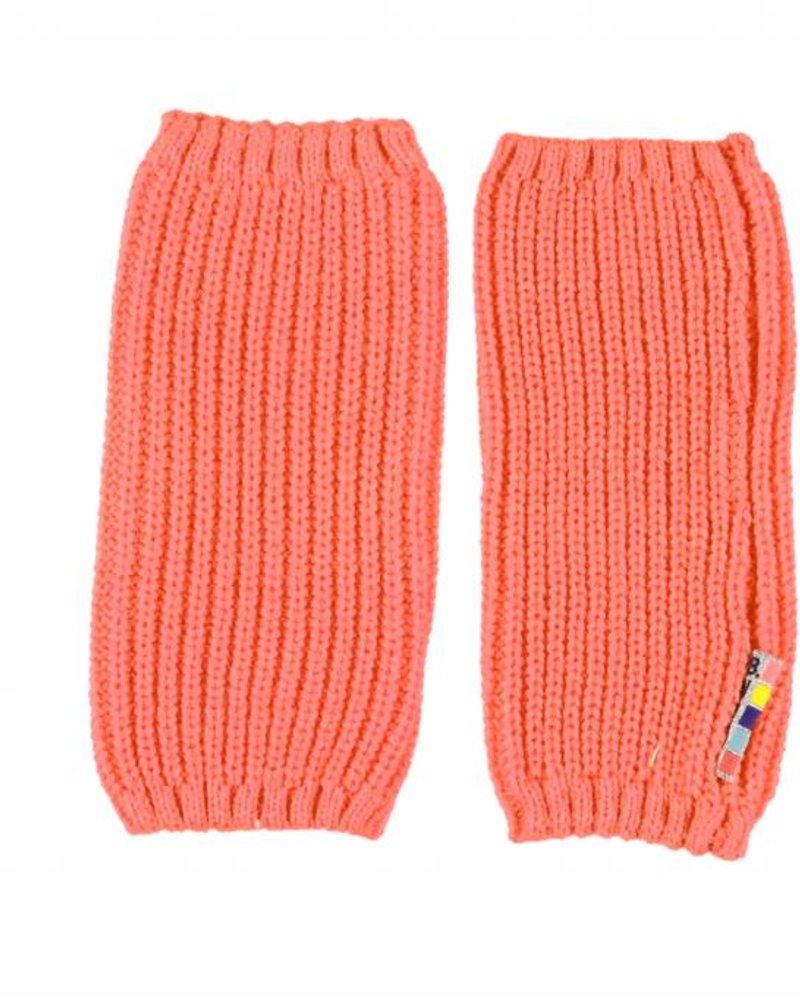 B.nosy Girls knitted legwarmer Color: mandarin
