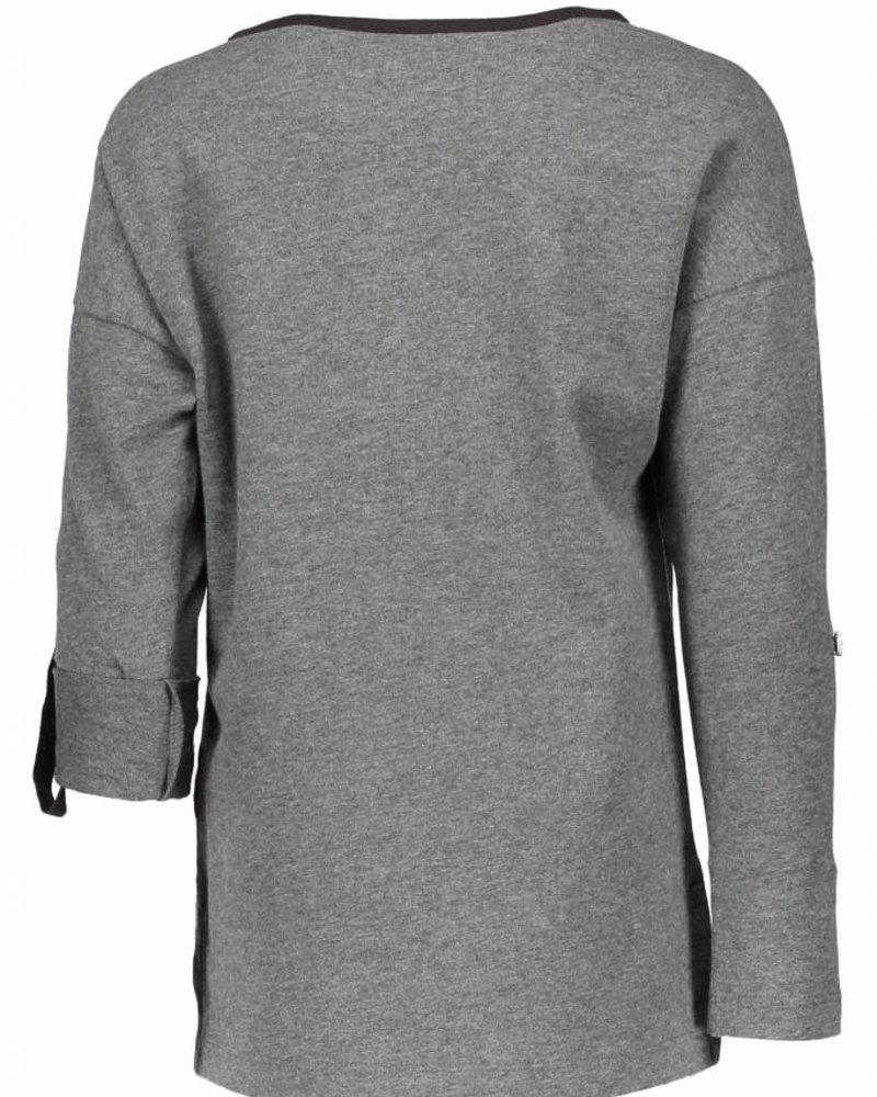 NoNo Komu longsleeve shirt with You ar  Color: Dark Grey Mellee