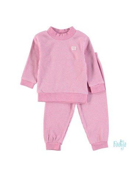 Feetje Pyjama wafel Color:Roze melange