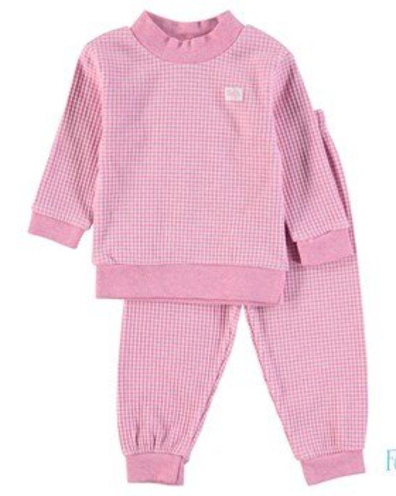 Feetje Feetje pyjama wafel Color:Roze melange