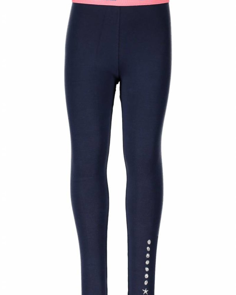 B.nosy Girls legging with fancy eleastic Color:Blueberry
