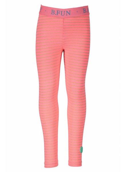 B.nosy Girls legging with lurex stripe Color: Tutti frutti