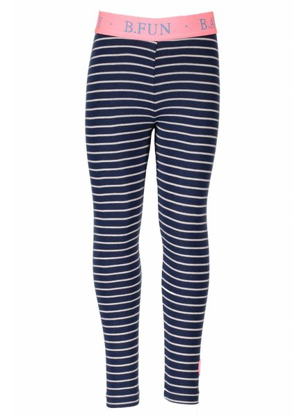 B.nosy Girls legging with lurex stripe Color: Blueberry