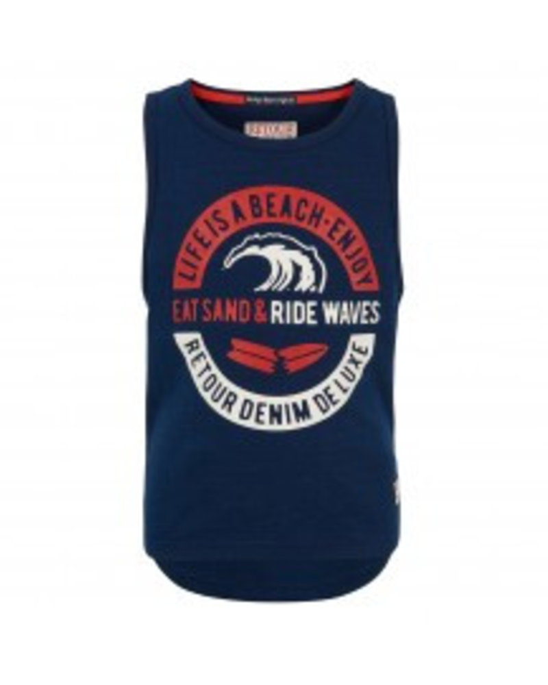 Retour Boys singlet Agustin Color: dark indigo blue
