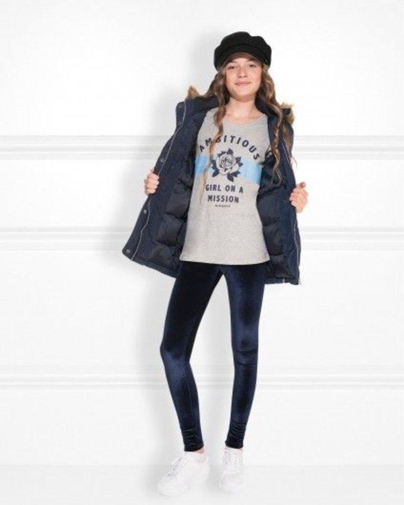 NIK & NIK Girls Mission t.shirt Color: light grey melange