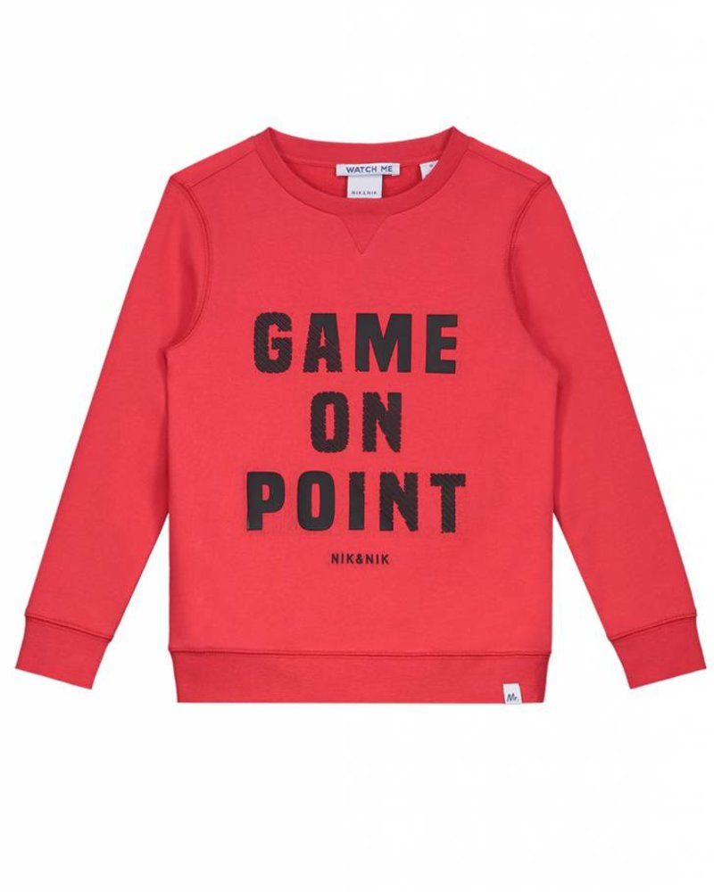 NIK & NIK Boys sweater Game On Color: soft red