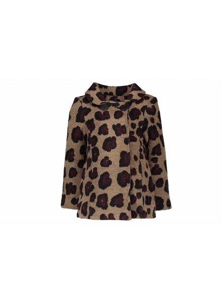 Like Flo Flo girls jacket wool animal bordeaux