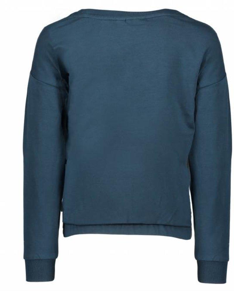 Like Flo Flo girls petrol sweater 'Rock it'
