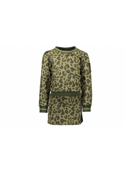 Like Flo Flo girls suede animal dress