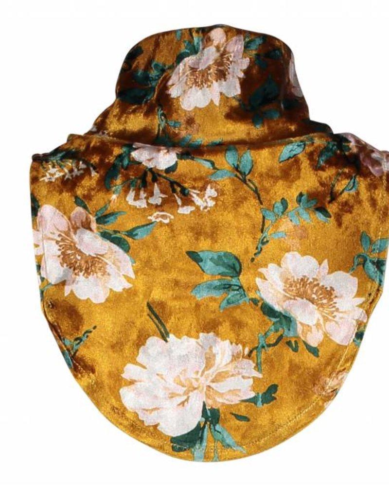 Like Flo Flo girls flower velours loose roll neck