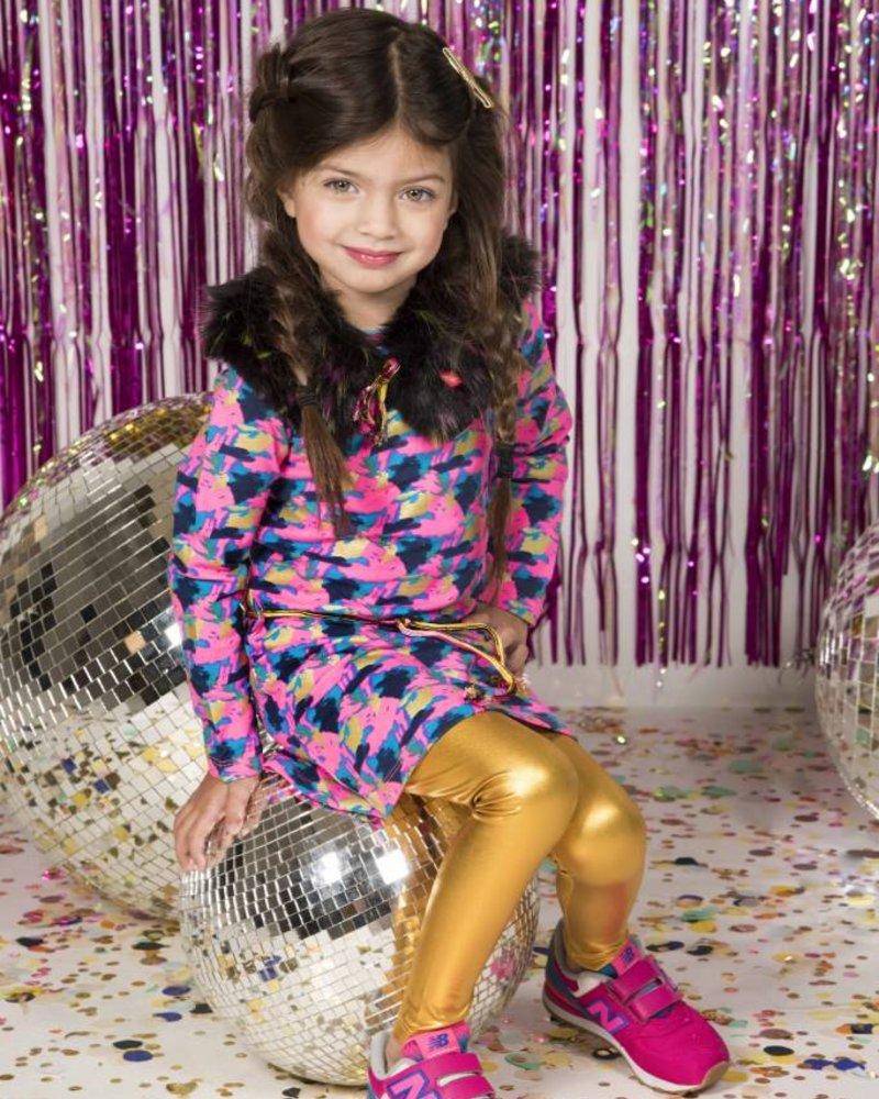 Kidz Art Girls coated legging gold