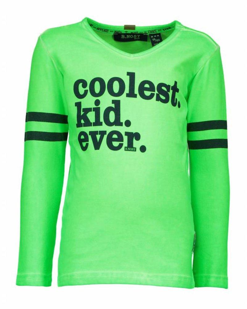 B.nosy Boys garment dye shirt with 1 color print