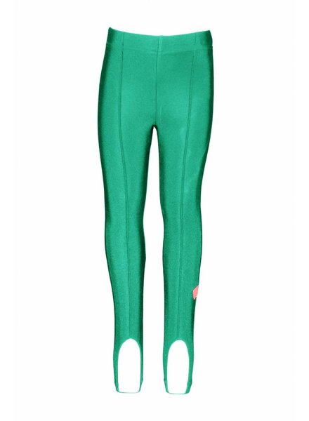 B.nosy girls metallic legging with pleat on front and loops on hem