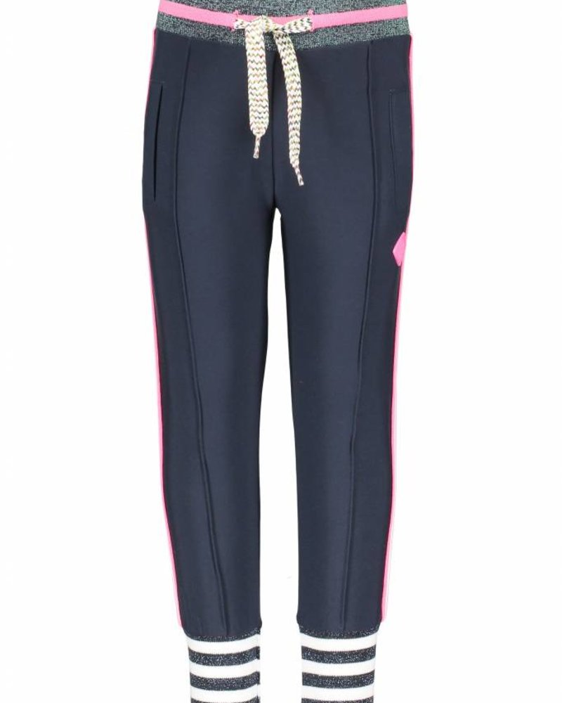 B.nosy  girls pants with big striped cuffs and knitted contrast tape on side seam Color: peacock