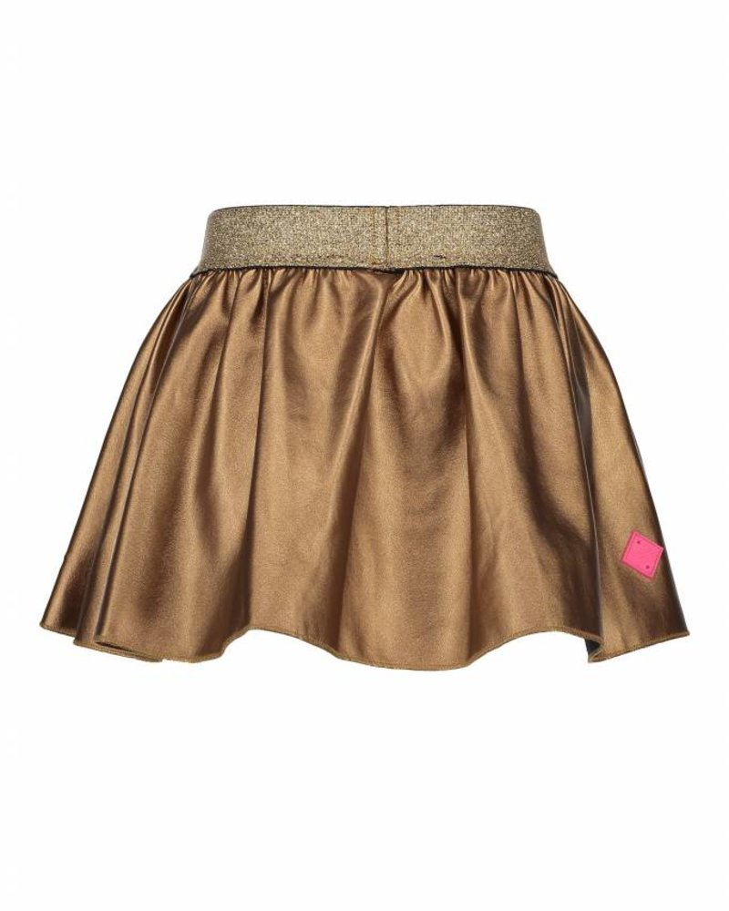 B.nosy Girls bronze skirt with studs artwork Color: bronze