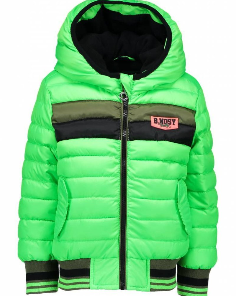 B.nosy Boys quilted jacket with contrast parts at body