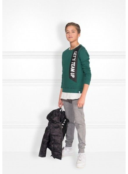 NIK & NIK Boys sweater Team Up Color: hunter green