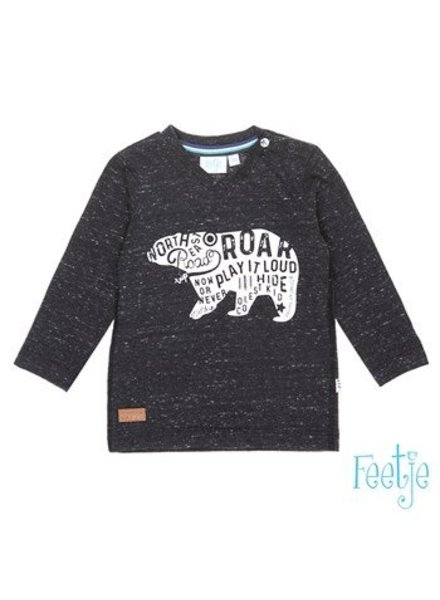 Feetje Baby Longsleeve Bear Expedition Color: antraciet melange