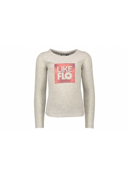 Like Flo Flo girls jersey t-shirt grey melee