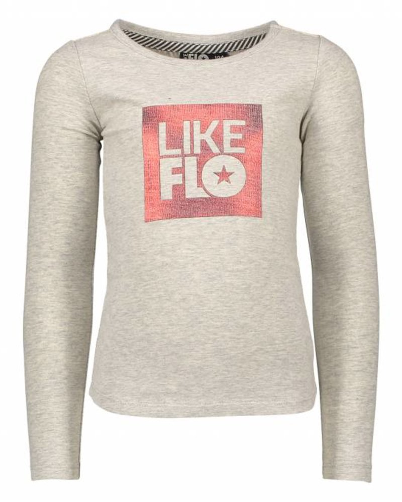 Like Flo Flo girls jersey t-shirt grey melee