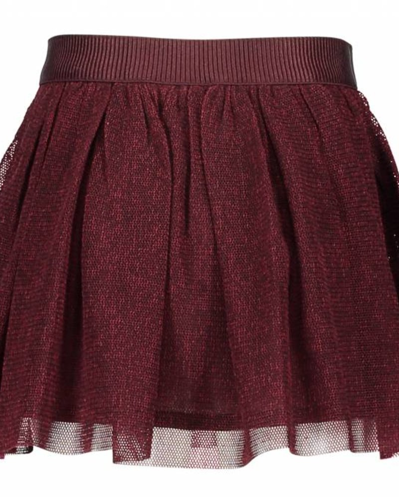 Like Flo Flo girls mesh melee skirt bordeaux