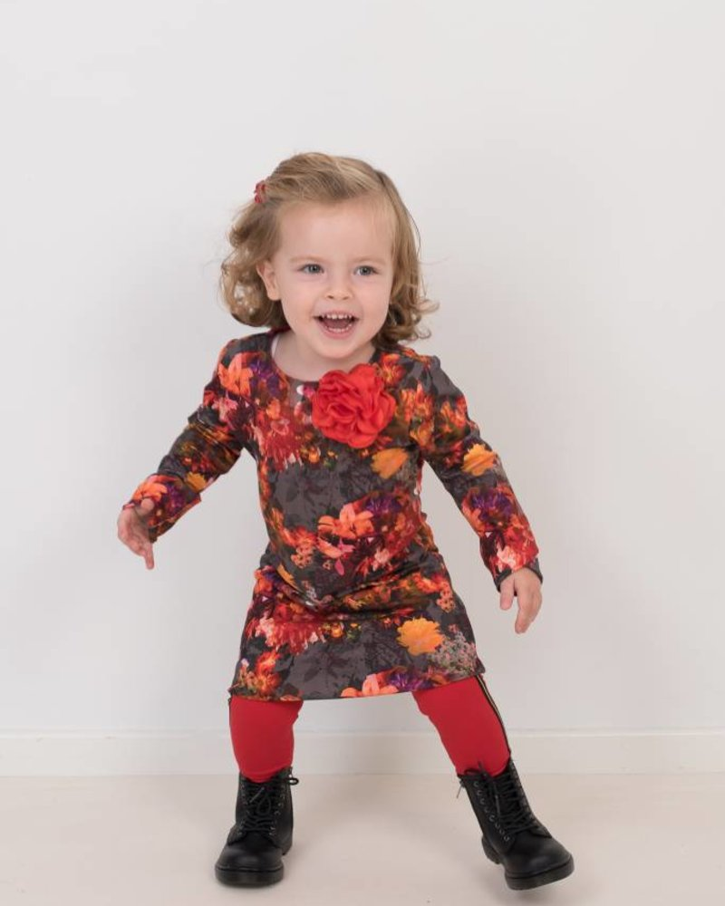 Waaaw Dress basic bloemen