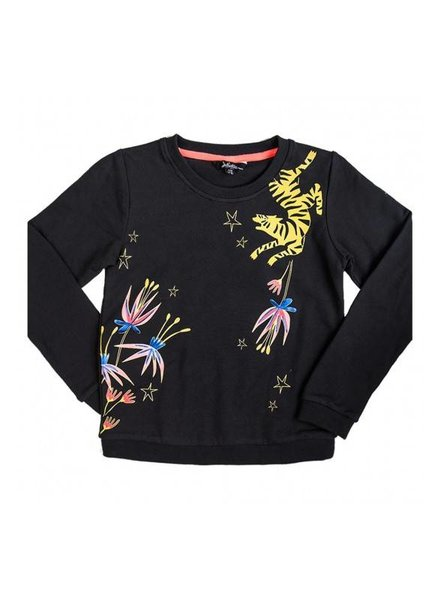 Little Miss Juliette Girls Sweater Color: zwart