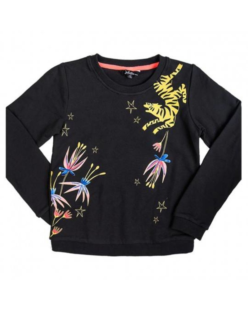 Little Miss Juliette Girls Sweater Color: zwart